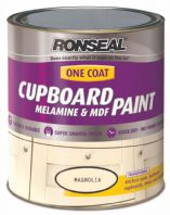 Ronseal One Coat Cupboard Melamine & MDF Paint 750ml - Magnolia